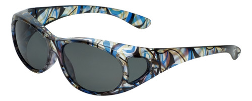 Calabria RS2866POL-JP2 Polarized Fit-Over Sunglasses with Rhinestones Medium Size