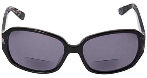 Vera Wang Designer Polarized Bi-Focal Sunglasses Flint Black/Brown Marble 57mm