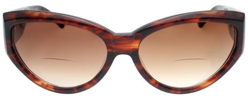 Vera Wang Designer Polarized Bi-Focal Cateye Sunglasses Graphite Tortoise 58mm