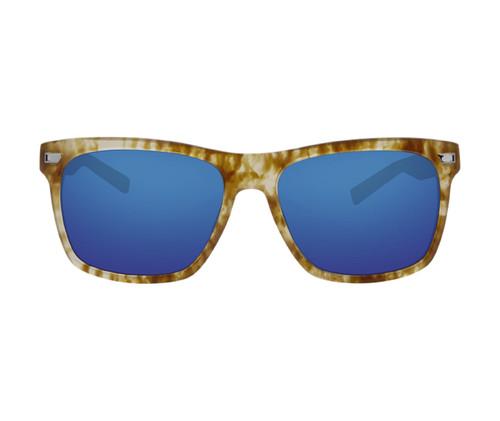 Costa Del Mar Aransas Polarized Sunglasses Kelp Tortoise/Blue Mirror 580G Glass