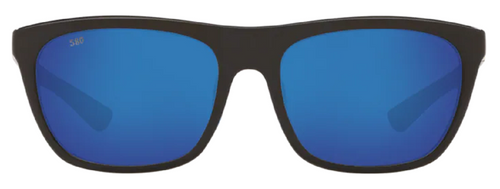 Costa Del Mar Cheeca Polarize Sunglasses Shiny Black/Blue Mirror 580G Glass 57mm