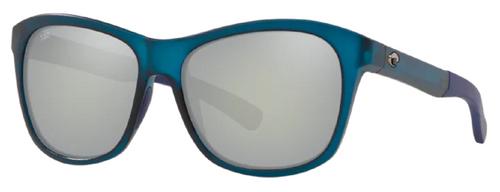Costa Del Mar Vela Polarized Sunglasses Ocearch Teal Blue/Grey Mirror 580G Glass