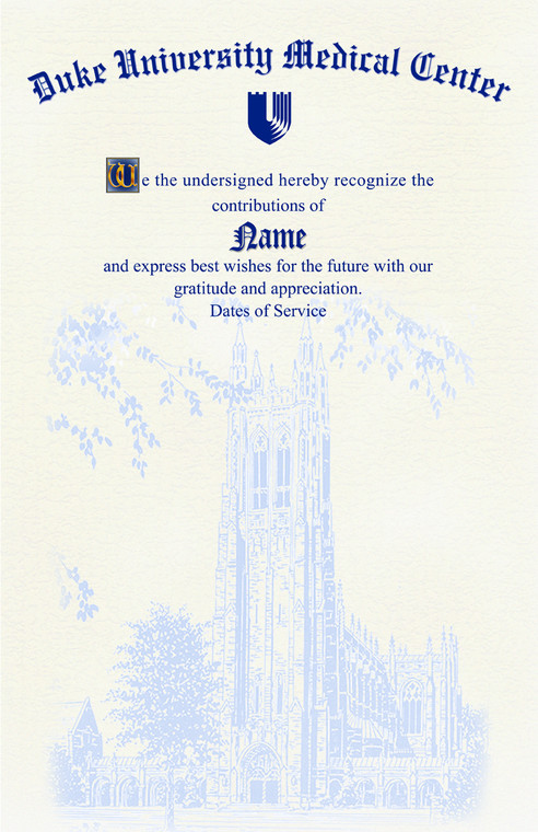 Duke Retirement Certificates