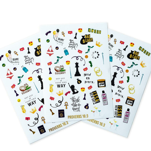 Large Queen Sticker Sheets