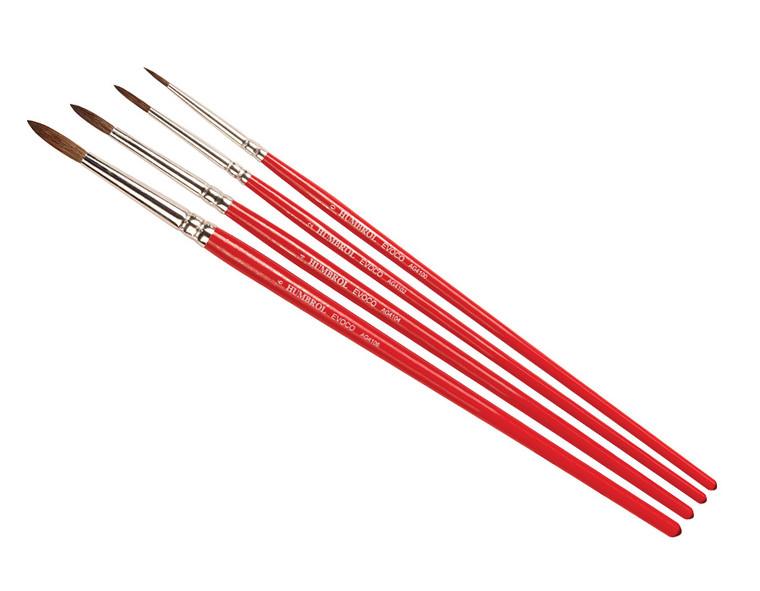 AG4150 Humbrol Evoco Brush Pack - Size 0/2/4/6