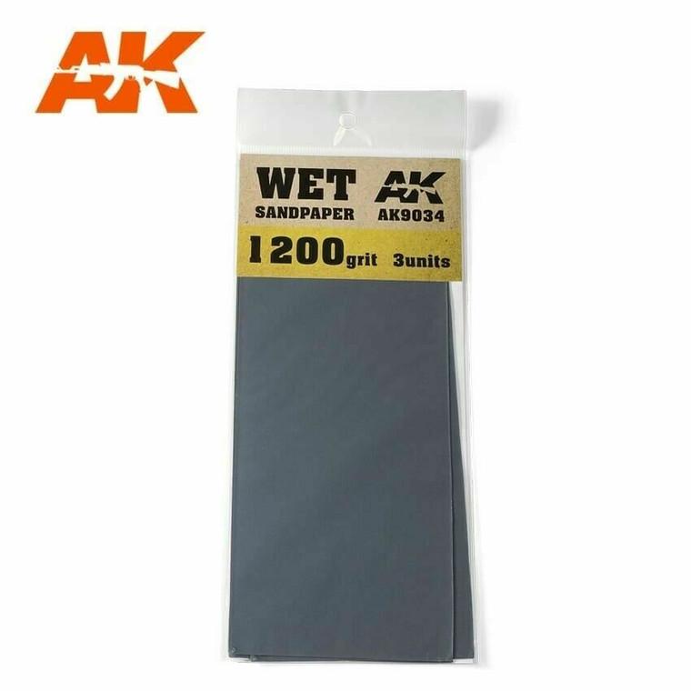 Sandpaper- Wet, 1200 Grit, 3 Units - AK09034