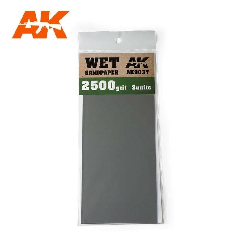 Sandpaper- Wet, 2500 Grit, 3 Units - AK09037