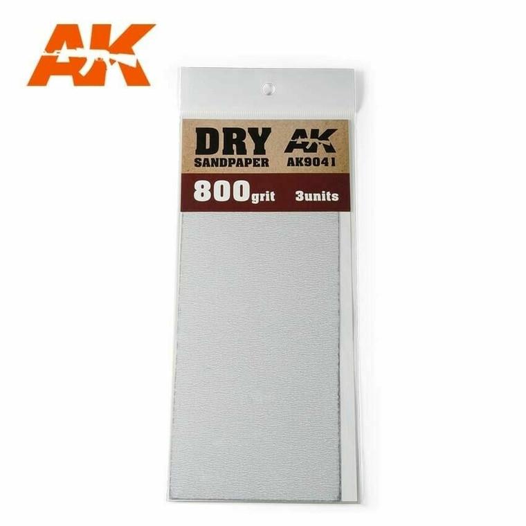 Sandpaper - Dry, 800 Grit, 3 Units - AK09041