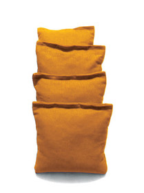 4 Orange Cornhole Bags