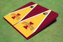 "Iowa State University ""I"" Yellow And Red Matching Triangle Cornhole Boards"