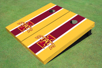 "Iowa State University ""I"" Red And Yellow Matching Long Stripe Cornhole Boards"