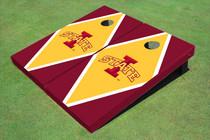 """Iowa State University """"I"""" Yellow And Red Matching Diamond Cornhole Boards"""