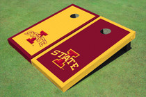 "Iowa State University ""I"" Alternating Border Cornhole Boards"