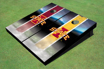 "Iowa State University ""I"" Field Long Strip Alternating Themed Cornhole Boards"
