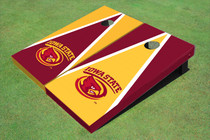 Iowa State University Cyclone Alternating Triangle Cornhole Boards
