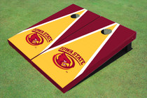 Iowa State University Cyclone Yellow And Red Matching Triangle Cornhole Boards