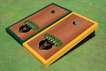 Baylor University Bear Head Rosewood Alternating Border Cornhole Boards