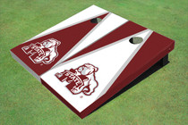 Mississippi State University Bulldog Alternating Triangle Cornhole Boards