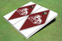 Mississippi State University Bulldog Maroon And White Matching Diamond Cornhole Boards
