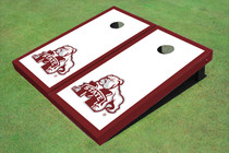 Mississippi State University Bulldog Maroon Matching Border Cornhole Boards