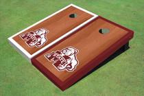 Mississippi State University Bulldog Rosewood Alternating Border Cornhole Boards