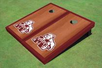 Mississippi State University Bulldog Maroon Rosewood Matching Border Borders Cornhole Boards