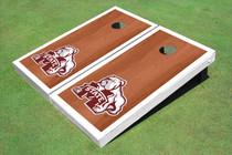Mississippi State University Bulldog White Rosewood Matching Borders Cornhole Boards