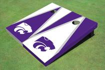 Kansas State University Wildcats Alternating Triangle Cornhole Boards