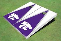 Kansas State University Wildcats Purple And White Matching Triangle Cornhole Boards