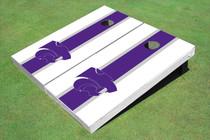 Kansas State University Wildcats Purple And White Matching Long Stripe Cornhole Boards