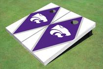 Kansas State University Wildcats Purple And White Matching Diamond Cornhole Boards