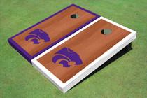 Kansas State University Wildcats Rosewood Alternating Border Cornhole Boards