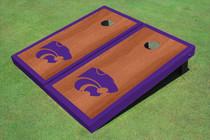 Kansas State University Wildcats Purple Rosewood Matching Border Borders Cornhole Boards