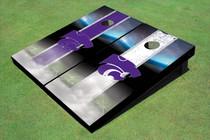 Kansas State University Wildcats Field Long Strip Alternating Themed Cornhole Boards