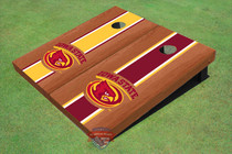 Iowa State University Cyclone Rosewood Alternating Long Stripe Cornhole Boards