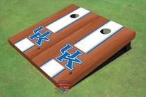 University Of Kentucky White Rosewood Matching Long Strip Cornhole Boards