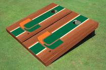 University Of Miami Green Rosewood Matching Long Stripe Cornhole Boards