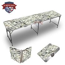 100 Dollar Bills Themed 8ft Tailgate Table