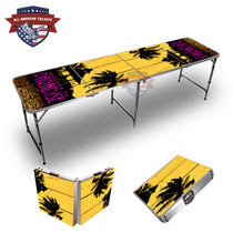 Beach Sunset #3 Themed 8ft Tailgate Tables