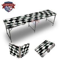 Checkered Flag Themed 8ft Themed Tailgate Table