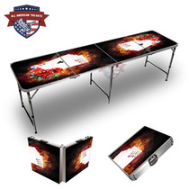Chips And Cards On Fire Themed 8ft Tailgate Table