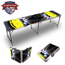 Corvette Yellow Themed 8ft Tailgate Table