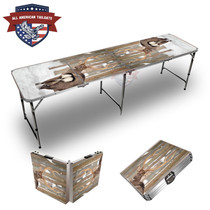 Deer In Snow Themed 8ft Tailgate Table