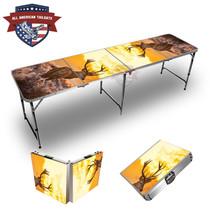 Deer Sunset Themed 8ft Tailgate Table