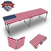 USA Flag Themed 8ft Tailgate Table