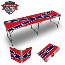 Rebel Flag Themed 8ft Tailgate Table