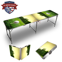 Golf Tee Sunset Themed 8ft Tailgate Table
