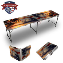 Harley Flag Themed 8ft Tailgate Table