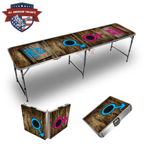His And Her Hole Themed 8ft Tailgate Table