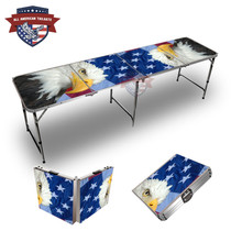 Patriotic Bald Eagle Themed 8ft Tailage Table